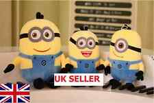 Set of 3 Despicable Me Minion Plush Soft Toy doll 8''/12''Jorge Dave Stewart UK