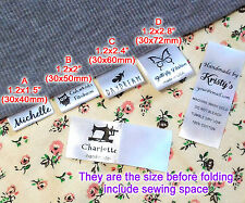 Custom logo clothes name label sew in folding hanging tag garment Personalized