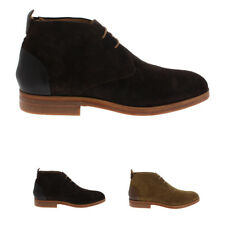 Mens H By Hudson Matteo Suede Shoes Lace Up Casual Work Ankle Boots All Sizes