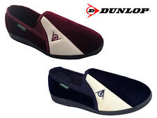 Mens Dunlop 'Duncan' Velour Two-Tone Twin Gusset Full Slippers Size 6-13 UK