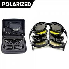 C5 Polarized Army Sunglasses Military Goggles Lens Glasses Men 4 Lenses Kit