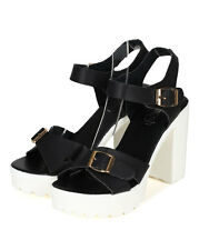 New Women Refresh Gaga-3 PU Open Toe Ankle Strap Platform Chunky Heel Sandal
