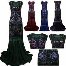 Prom Gown Dress 1920s Flapper Dress Gatsby Long Bridesmaid Evening Party Dresses
