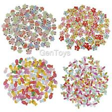 100pcs Mixed 2 Holes Wooden Buttons Scrapbooking Sewing Embellishment DIY Crafts