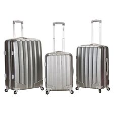 Rockland 3-Piece Polycarbonate/ABS Upright Luggage Set