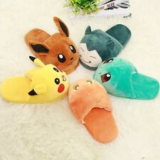 Adult Slipper Pokemon Cosplay Pikachu Eevee Snorlax Soft Plush Slippers Shoes x