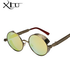 Metal Frame Eyewear Sunglasses Glasses Retro Men Women Lens Round Vintage New