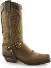 Sendra 3434 Mens Handmade Spanish Leather Mid Calf Western Cowboy Boots Tan