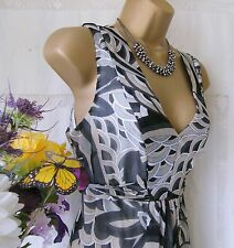 "WALLIS PRE-OWNED "" ABSTRACT PRINT MAXI"" DRESS SIZE 12"