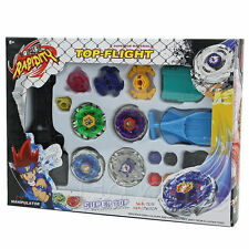 Metal Master Fusion Top Rapidity Fight Rare Beyblade 4D Launcher Grip Set LOT