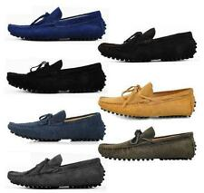 Mens suede leather Driving casual Moccasin Loafer slip on boats Shoes 7 style
