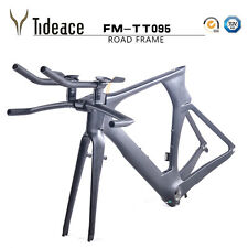 Carbon Fiber Time Trial Bike Frame OEM Triathlon Bicycle Frameset+Fork+Handlebar