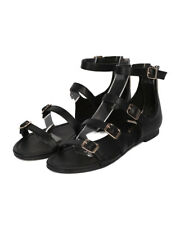 New Women Breckelles Indio-31 Leatherette Strappy Buckled Flat Sandal