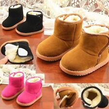 Boys Girls Winter Warm Snow Boots Furry Non-Slip Casual Shoes Children Infant