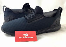 10 New Mens UNDER ARMOUR MODA LOW Triple Black Stealth Gray Running Shoes