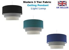 3 Tier Fabric Ceiling Pendant Light Lamp Shade Shades Modern Easy Fit