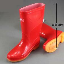 Womens high rainboots galoshes antiskid fishing Tooling Work shoes 3 Color