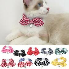 Pet Cat Kitten Dogs Noctilucence Small Bell Collar Necktie with Bowknot