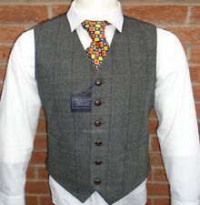 MENS WOOL  TWEED WAISTCOAT HERRINGBONE LlOYD ATTREE & SMITH S M