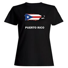 Puerto Rico Country Map Color Women T-shirt