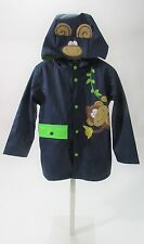 Wippette Toddler Monkey Business Blue Raincoat Sz 3T NWT