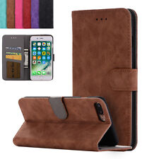 For iPhone 6 6S /7 Plus Retro Leather Flip Cover Wallet Card Stand Magnetic Case