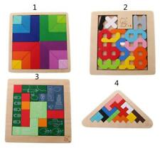 Kids Colorful Wood Toy Wooden Puzzle Wooden Tetris Toys Children Educational Toy