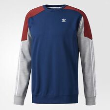 adidas Originals CLIMALITE NAUTICAL MENS SWEATSHIRT Red/Blue/Grey-Size XL Or 2XL