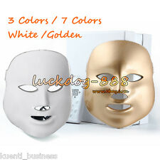7 Colors LED Light Photon Electric Facial Mask PDT Skin Rejuvenation Therapy