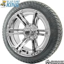 """14"""" RHOX SS RX352 Chrome Wheel and Low Profile Golf Cart Tire Combo Options"""