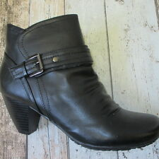 Lotus Ladies Dunedin Ruched Ankle Boot Black size 8(2870584 R4)#