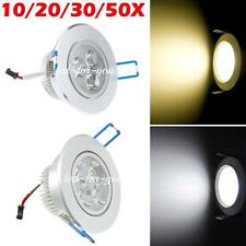 10/20/30x 9W/12W LED Warm Cool Ceiling Recessed lights Downlight Lamp 100-245V