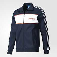 adidas Originals BLOCK MEN'S TRACK JACKET Slim Fit LEGEND INK - Size XS, S Or M