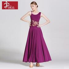 2017 NEW Latin Salsa Cha cha Tango Ballroom Dance Dress Long Lace Dress #YL238