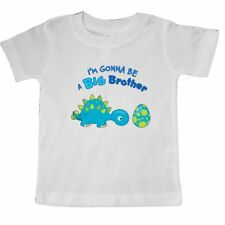 Inktastic Happy Dinosaur Future Big Brother Baby T-Shirt Going To Be Siblings
