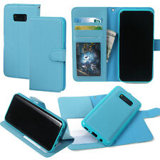 Samsung S8 Cell Phone Wallet Flipped Detachable Cross Pattern Leather Case
