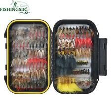 Artificial Fishing Lure 64/100/120PCS Fishing-Flies Tying Material Tackle Boxes