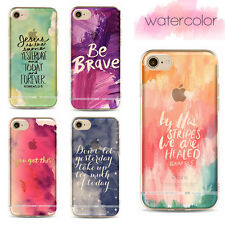 Back Slim Elegant Simple Soft TPU Watercolor Cover Case For 7 6 Plus 5s