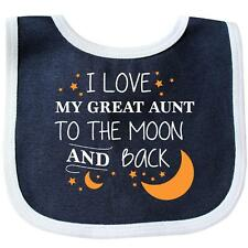 Inktastic I Love My Great Aunt To The Moon And Back Baby Bib Family You Aunty