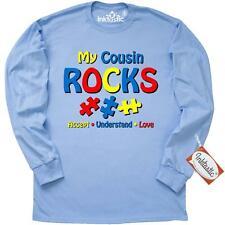 Inktastic Autistic Cousin Rocks Long Sleeve T-Shirt Autism Awareness My Jigsaw