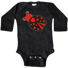 Inktastic Inverse Ladybug Long Sleeve Creeper Red Black Heart Bug Insect