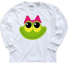 Inktastic Frog Face Girl Youth Long Sleeve T-Shirt Lover Cute Froggy Animals Tee