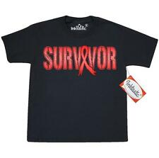 Inktastic Red Ribbon Survivor Youth T-Shirt Aids & Hiv Awareness Aperts Syndrome