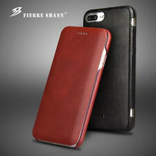 Luxury Flip Business Genuine Cow Leather Case Cover For Apple iPhone &Samsung