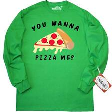 Inktastic You Wanna Pizza Me Long Sleeve T-Shirt Food Humor Pun Red Mens Adult