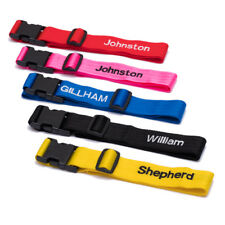 Deluxe luggage strap personalised upto 10 letters 1.8m x 2 straps
