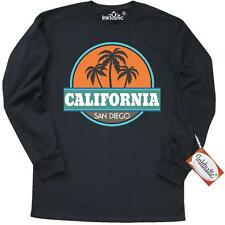 Inktastic San Diego California Long Sleeve T-Shirt Beach Palm Tree Vintage Retro