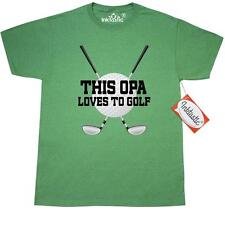 Inktastic Opa Loves To Golf T-Shirt Grandpa Golfer Golfing Fathers Day Sports
