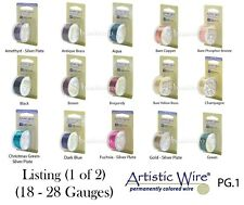Artistic Wire 46 COLORS Tarnish Resistant & SILVER PLATED Wires - Dispenser