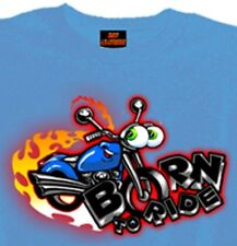 Motorcycle Boys Tshirt Born to Ride Biker Blue Short Sleeve New 12month 2T 4T